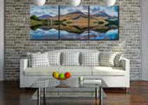 High Stile and High Crag - 3 Panel Canvas on Wall