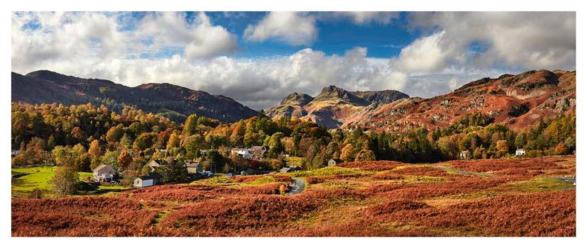 Elterwater Village - Lake District Print