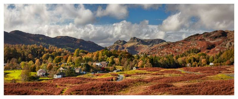 Elterwater Village - Lake District Print