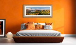 Loweswater Fell Summit - Framed Print with Mount on Wall