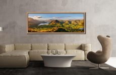 View from the summit of Loweswater Fell down the Buttermere valley - Oak floater frame with acrylic glazing on Wall