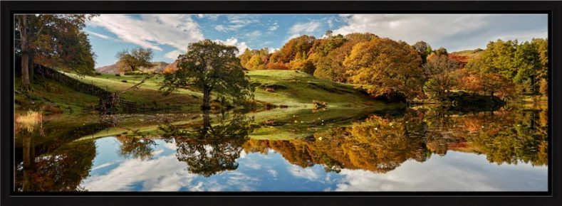 Loughrigg Tarn Autumn Reflections - Modern Print