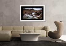Deepdale Beck to Greenhow End - Framed Print with Mount on Wall