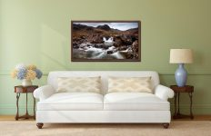 Deepdale Beck to Greenhow End - Walnut floater frame with acrylic glazing on Wall