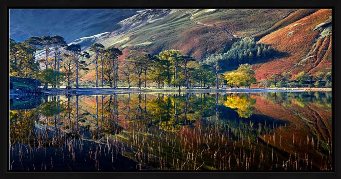 Buttermere Autumn Reflections - Modern Print