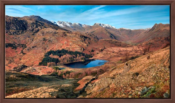 Winter Sun Over Blea Tarn - Modern Print