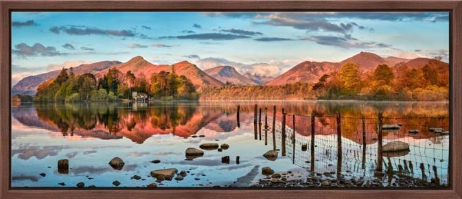 Derwent Water Red Mountains - Modern Print