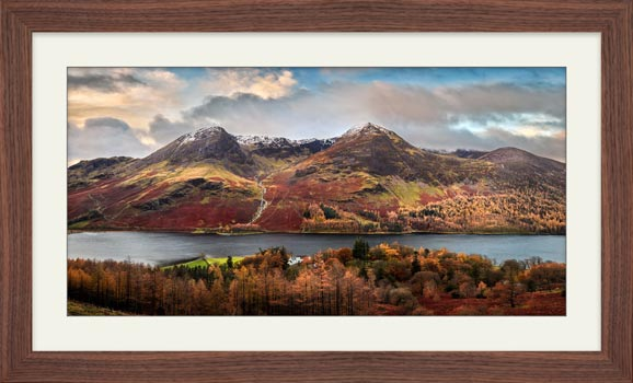 High Stile High Crag in Autumn - Framed Print with Mount