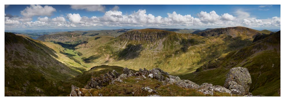 Helvellyn to St Sunday Crag - Lake District Print
