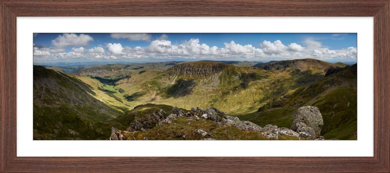 Helvellyn to St Sunday Crag - Framed Print