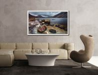 Wast Water Middle Earth - White Maple floater frame with acrylic glazing on Wall
