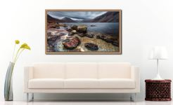 Wast Water Middle Earth - Oak floater frame with acrylic glazing on Wall