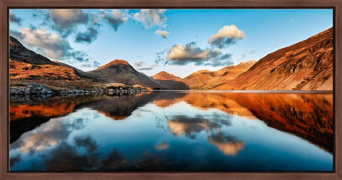 Golden Light Over Wast Water - Modern Print