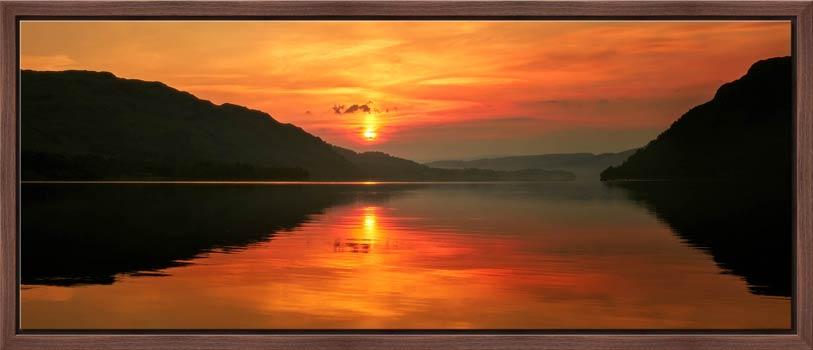 A lovely golden sunrise over Ullswater