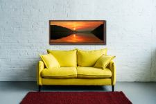 A lovely golden sunrise over Ullswater - Walnut floater frame with acrylic glazing on Wall