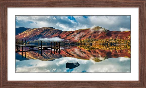 Late Autumn at Ashness Jetty - Framed Print