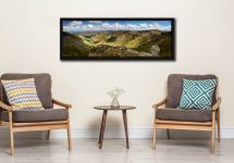 View from Helvellyn over the Grisedale Valley to St Sunday Crag - Black oak floater frame with acrylic glazing on Wall