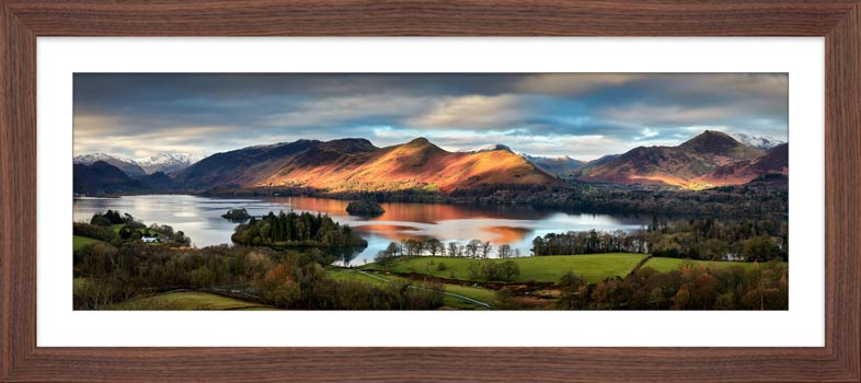 Cat Bells Morning Light - Framed Print with Mount