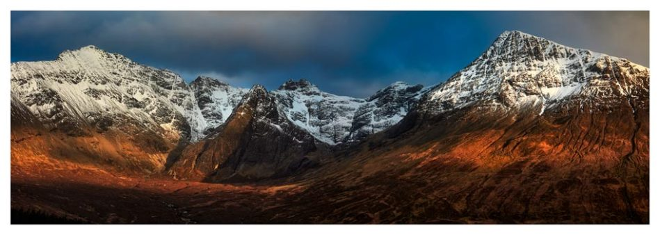 Evening Light on Cuillins - Isle of Skye Print