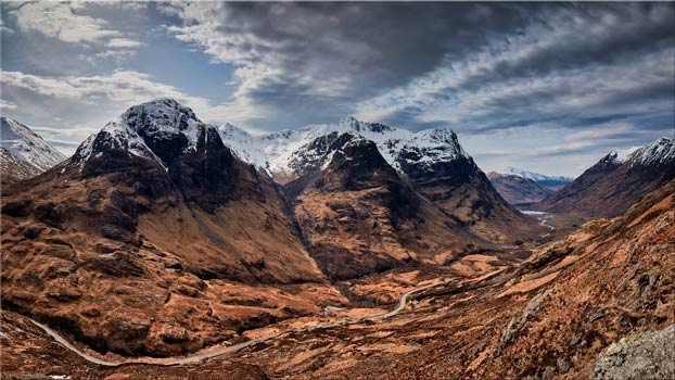 Winter Colours of Three Sisters - Scotland Canvas