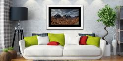 Winter Colours of Three Sisters - Framed Print with Mount on Wall