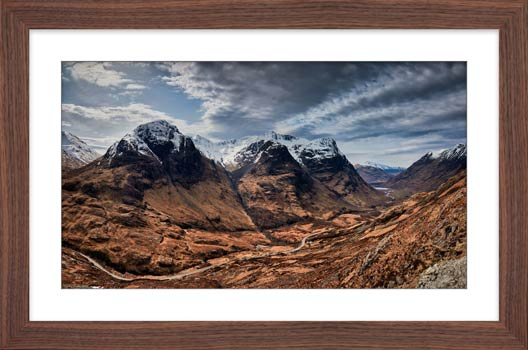 Winter Colours of Three Sisters - Framed Print