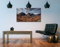 Winter Colours of Three Sisters - Print Aluminium Backing With Acrylic Glazing on Wall