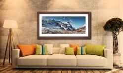 Glencoe in the Snow - Framed Print with Mount on Wall