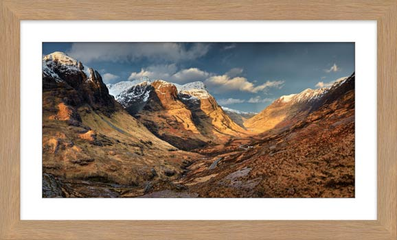 Mountains of Glencoe - Framed Print with Mount