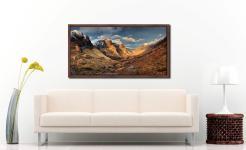 Mountains of Glencoe - Walnut floater frame with acrylic glazing on Wall