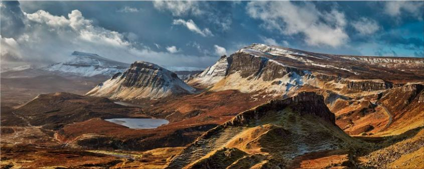 Snow on the Trotternish Mountains - Scotland Canvas