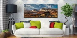 The snow covered Trotternish mountains on the Isle of Skye - Print Aluminium Backing With Acrylic Glazing on Wall
