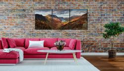 Buttermere Valley and High Crag - 3 Panel Canvas on Wall