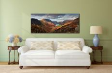 Buttermere Valley and High Crag - Canvas Print on Wall