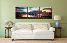 Derwent Water at Dusk - UltraHD Print with Aluminium Backing on Wall
