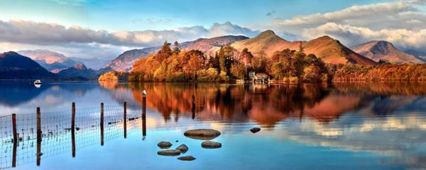 Derwent Water Panorama - UltraHD Print with Aluminium Backing