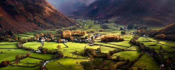 Autumn Colours of Borrowdale - UltraHD Print with Aluminium Backing