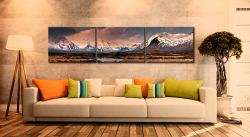 Mountains Around Rannoch Moor - 3 Panel Canvas on Wall