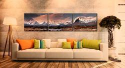 Mountains Around Rannoch Moor - 3 Panel Canvas on Wall