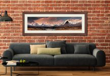 Mountains Around Rannoch Moor - Framed Print with Mount on Wall
