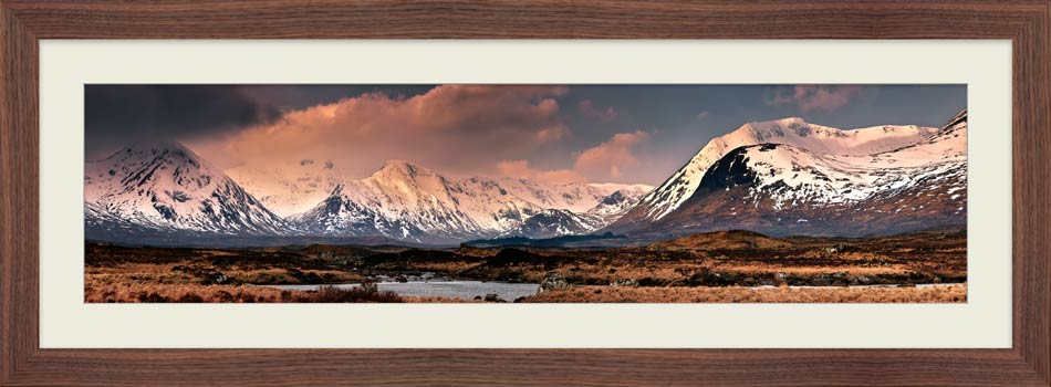 Mountains Around Rannoch Moor - Framed Print