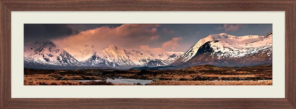 Mountains Around Rannoch Moor - Framed Print