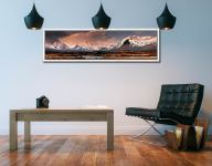 Mountains Around Rannoch Moor - White Maple floater frame with acrylic glazing on Wall