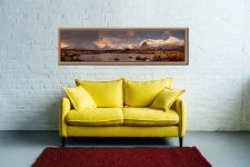 Mountains Around Rannoch Moor - Oak floater frame with acrylic glazing on Wall