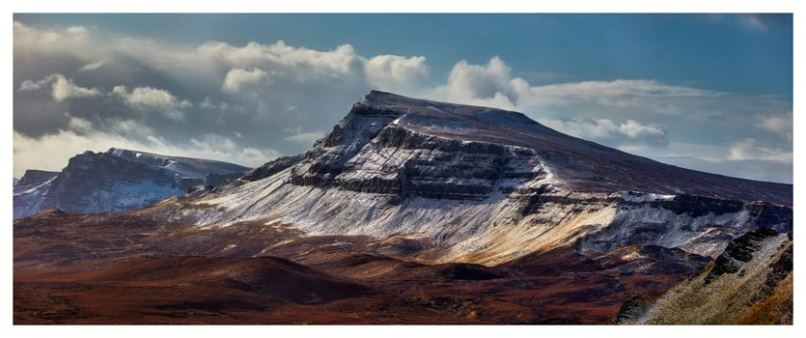 Winter on the Trotternish Mountains - Scotland Print