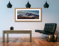 Winter on the Trotternish Mountains - Framed Print with Mount on Wall