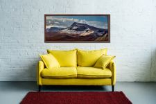 Late winter snow on the Trotternish Mountains on the Isle of Skye - Walnut floater frame with acrylic glazing on Wall