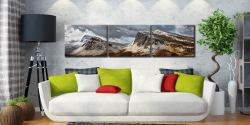 Snow on the Cleat and Dun Dubh - 3 Panel Canvas on Wall