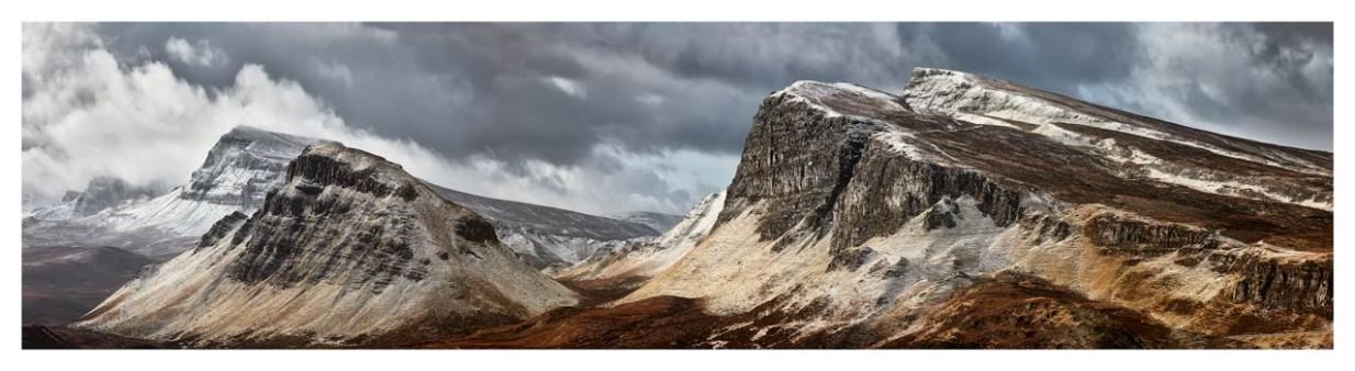 Snow on the Cleat and Dun Dubh - Scotland Print