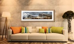 Snow on the Cleat and Dun Dubh - Framed Print with Mount on Wall